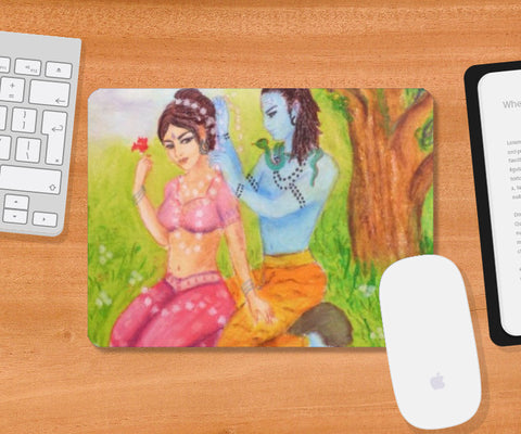 Mousepad, Shiva and Parvati Mousepad | artist: Lalitavv, - PosterGully