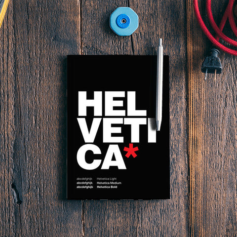 Helvetica Black Notebook | Artist : Keepcalm Prints