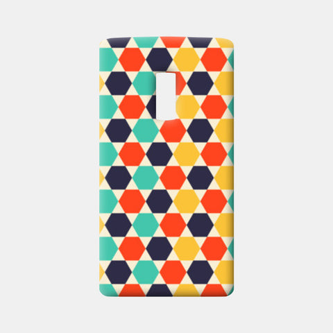 Multi colored repetition shape background One Plus Two Cases | Artist : Designerchennai
