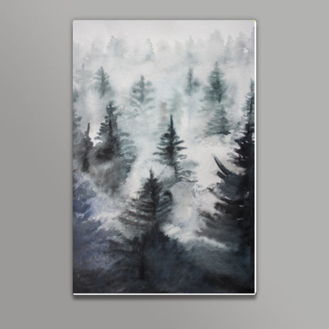Misty Pines Metal Prints | Artist : Design|A