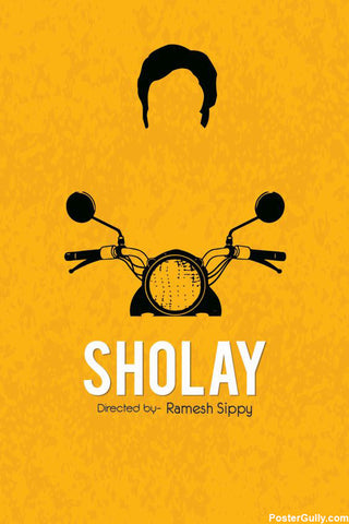 Wall Art, Sholay Artwork | Artist: Rohit Kumar, - PosterGully - 1