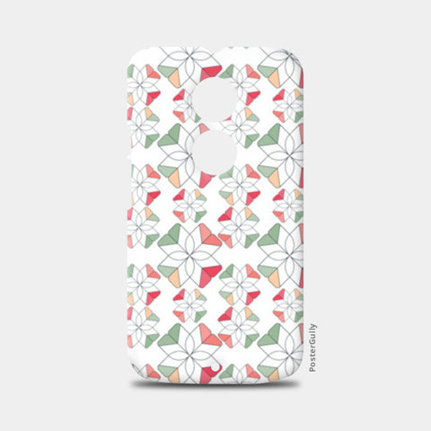 Flowers Retro Shapes Geometric Pattern Moto X2 Cases | Artist : Designerchennai