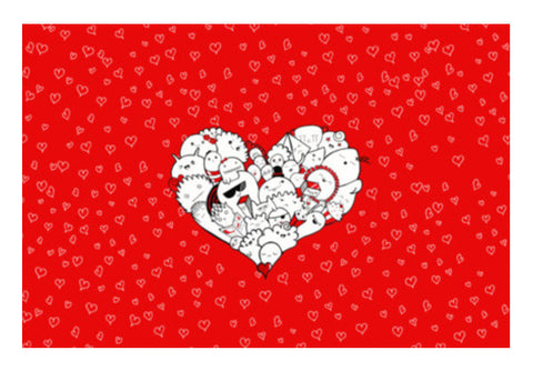 Happymess  Doodle  Love  Art PosterGully Specials