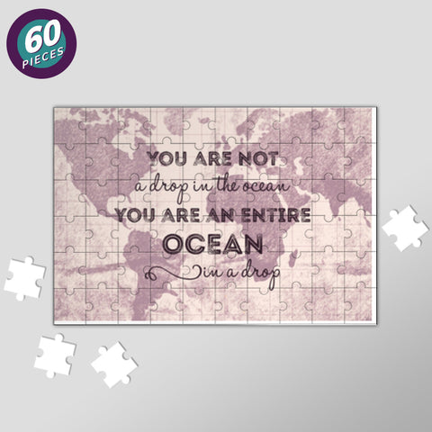 Motivational Quote World Map Jigsaw Puzzles | Artist : Inderpreet Singh