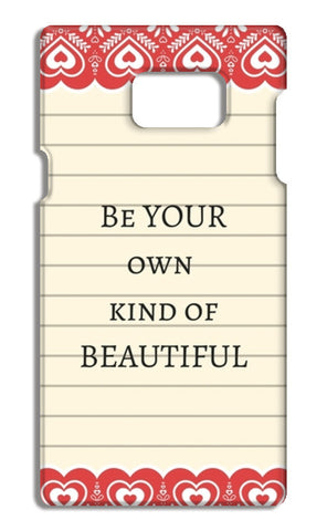 be your own kind of beautiful Samsung Galaxy Note 5 Cases | Artist : Pallavi Rawal