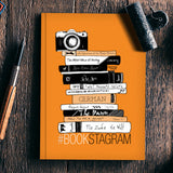 Bookstagram (Orange) | Artist: Aparna Singh Notebook | Artist : My doodles ate me… om nom