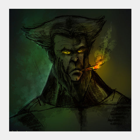 Square Art Prints, wolverine Square Art | Rishi Singh, - PosterGully