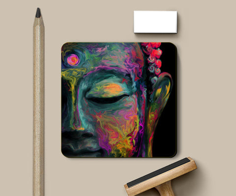 Inner Flame ---The mind is everything. What you think you become. -- Buddha Coasters | Artist : I Art You