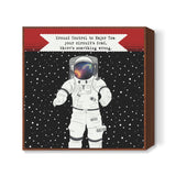 Astronaut - Ground control to Major Tom Square Art Prints | Artist : C-zure