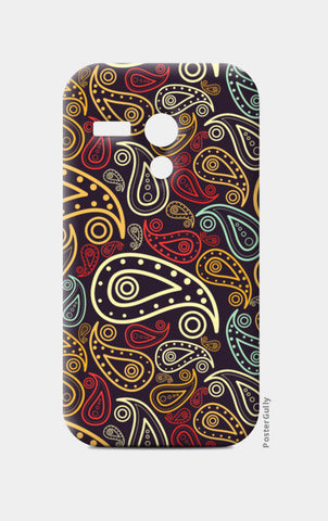 Abstract hand drawn floral illustration on multicolors Moto G Cases | Artist : Designerchennai
