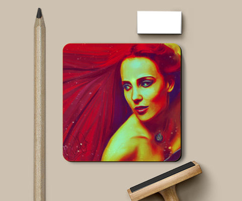 Lady in Red Coasters | Artist : Delusion