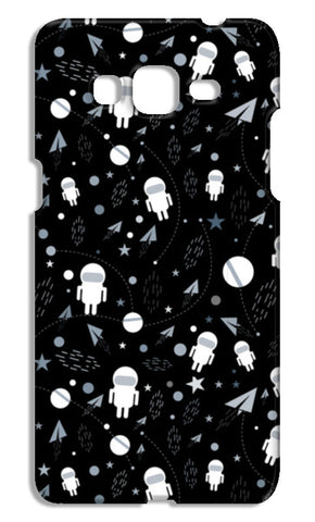 Astronaut black and white Samsung Galaxy Grand Prime Cases | Artist : Designerchennai