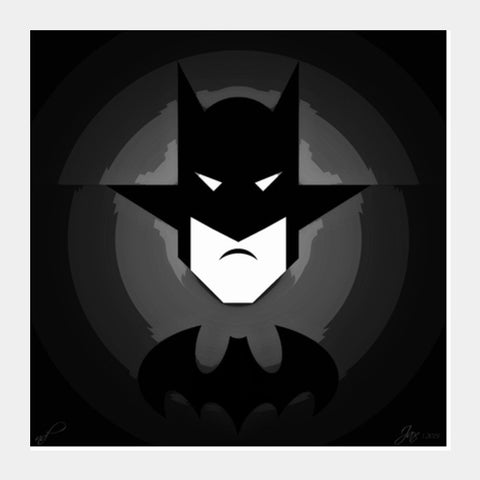 Square Art Prints, Mr. Bat Black Square Art Prints | Artist : Jax D, - PosterGully