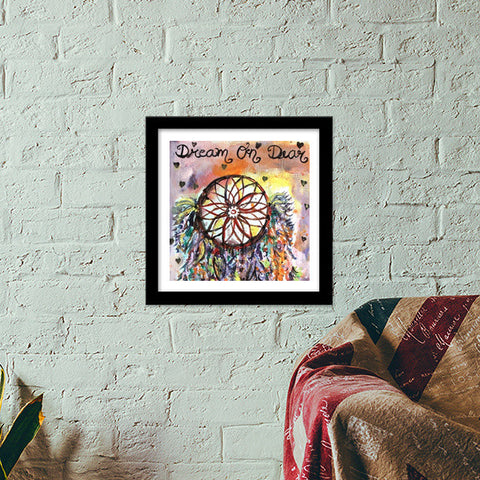 Dear Dreamcatcher Premium Square Italian Wooden Frames | Artist : the scribble stories