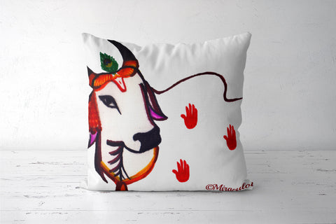 Gaiya | The adorable Indian Cow Cushion Covers | Artist : Miraculous