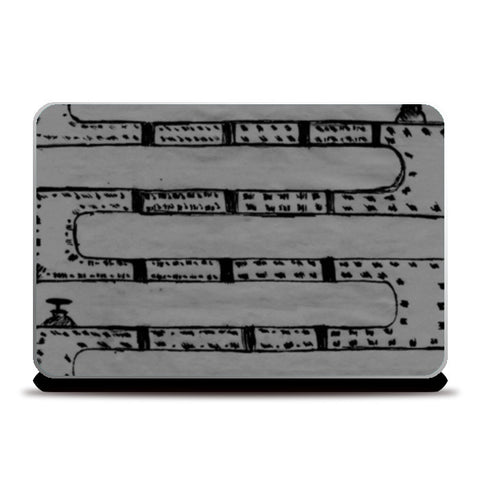 Pipeline Grey Laptop Skins | Artist : prat