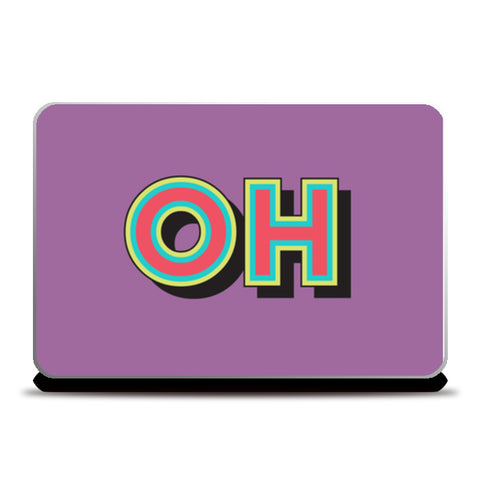 Colorful Pop Art Typography Laptop Skins | Artist : Stuti Bajaj