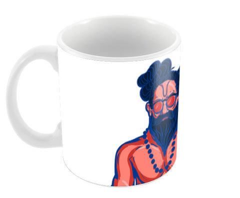 Hipster Yogi Coffee Mugs | Artist : Malay Jain