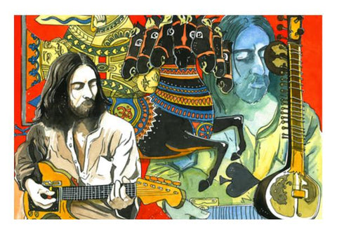 PosterGully Specials, George Harrison - Dark Horse Wall Art  | Artist : Bibek Das, - PosterGully