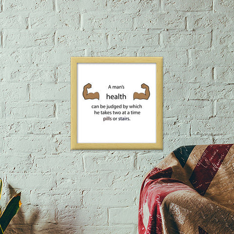 Gym Motivation Quote Premium Square Italian Wooden Frames | Artist : Kinjal Waghela