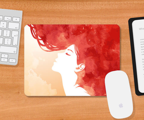 Mousepad, Red Girl Inspiration Mousepad | Artist : Pranit Jaiswal, - PosterGully