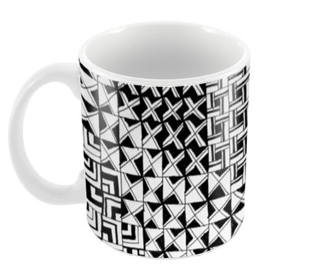 Squares and Crosses Coffee Mugs | Artist : Purvi Gadewar