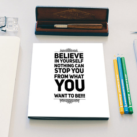 Believe | Quote | Typography | Notebook | Artist : Nandini Rawat
