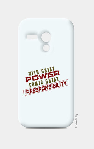 With Great Power Comes? Moto G Cases | Artist : Kaushal Faujdar