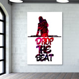 Drop The Beat white Wall Art | Artist : Ajay Seth