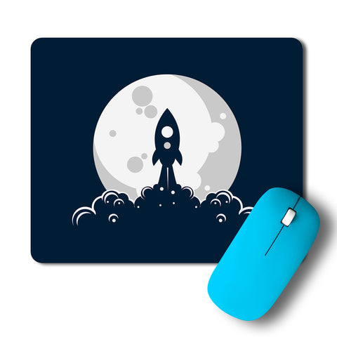 Rocket Moon Launch Artwork Mousepad