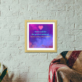Make it perfect Premium Square Italian Wooden Frames | Artist : Pallavi Rawal