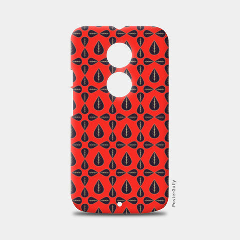 Seamless pattern with leaves on red background Moto X2 Cases | Artist : Designerchennai