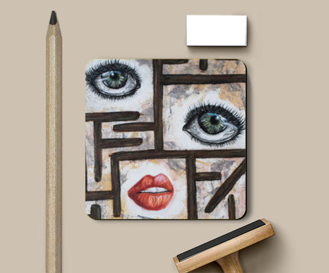 The Maze behind your face Coasters | Artist : Anitha Vallikunnel
