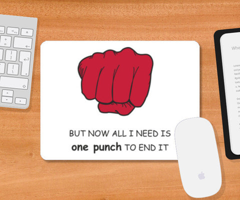 Mousepad, One Punch Man Mousepad | Artist : Kajal Saglani, - PosterGully