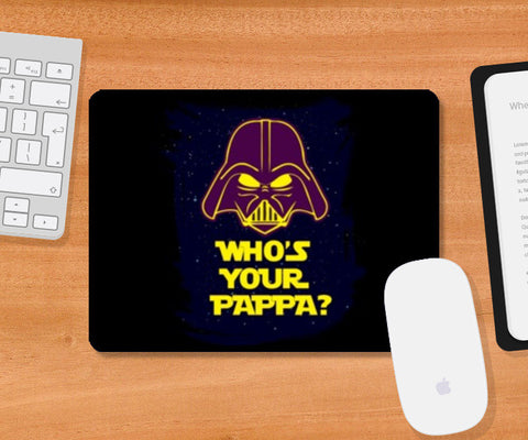 Mousepad, Who's Your Pappa Mousepad | Artist : Random Chinese Friend, - PosterGully