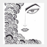 doodle, black and white Square Art Prints | Artist : All the randomness
