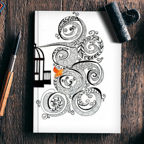 Set me free into the whirling wind Notebook | Artist : the unskilled artist