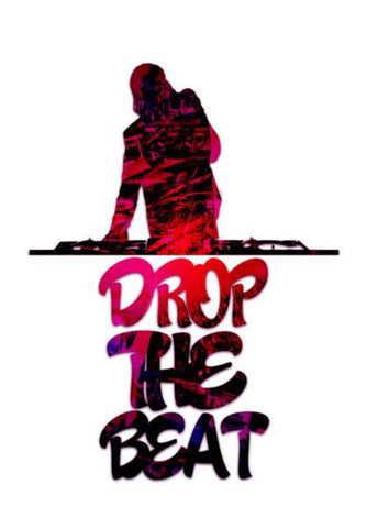PosterGully Specials, Drop The Beat white Wall Art | Artist : Ajay Seth, - PosterGully