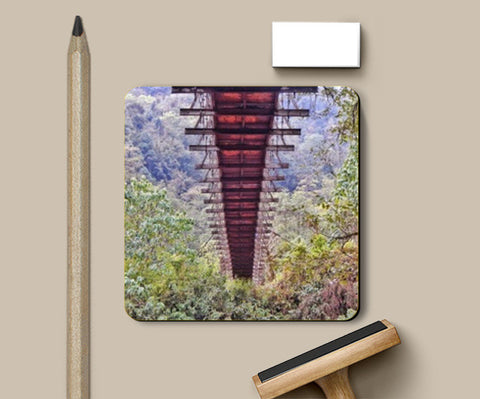 Hanging bridge symmetrical Coasters | Artist : Swati Saxena
