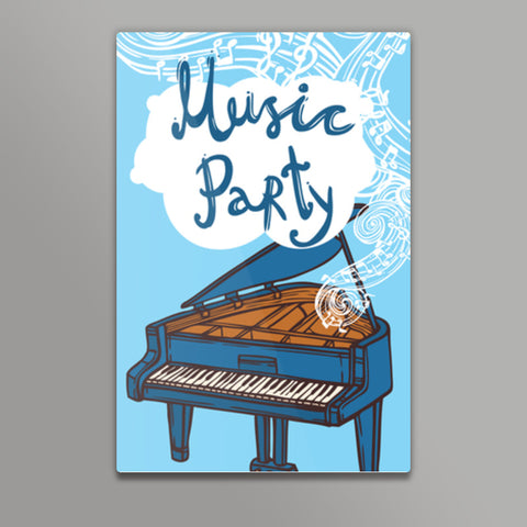 Music Party Metal Prints | Artist : Inderpreet Singh