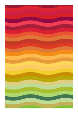 PosterGully Specials, Rainbow waves Wall Art | Artist : Designerchennai, - PosterGully