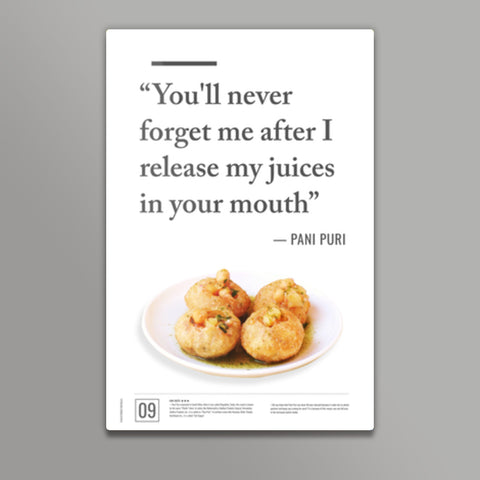 Junk Seduction_Pani Puri Metal Prints | Artist : Scatterred Partikles