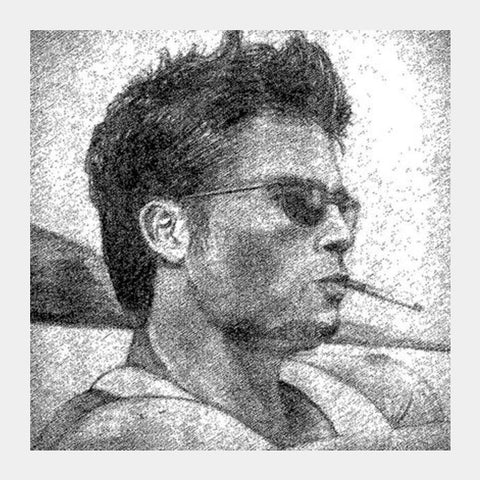 Square Art Prints, Brad Pitt - Fight Club Square Art Prints | Artist : Pallab Bhowmik, - PosterGully