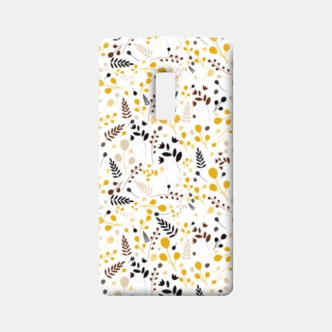 Floral seamless pattern on yellow One Plus Two Cases | Artist : Designerchennai