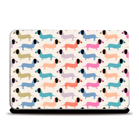 Dog seamless pattern Laptop Skins | Artist : Designerchennai