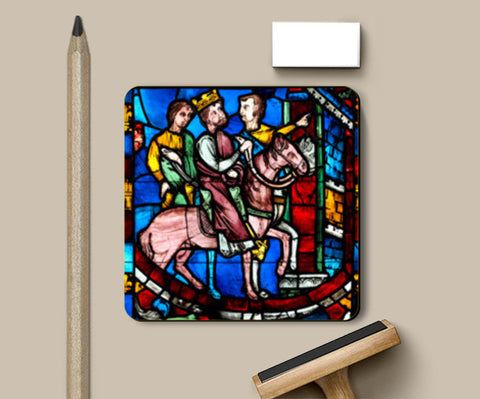 Theodosius Arrives at Ephesus, from a Scene from the Legend of the Seven Sleepers of Ephesus Coasters | Artist : Aditya Gupta