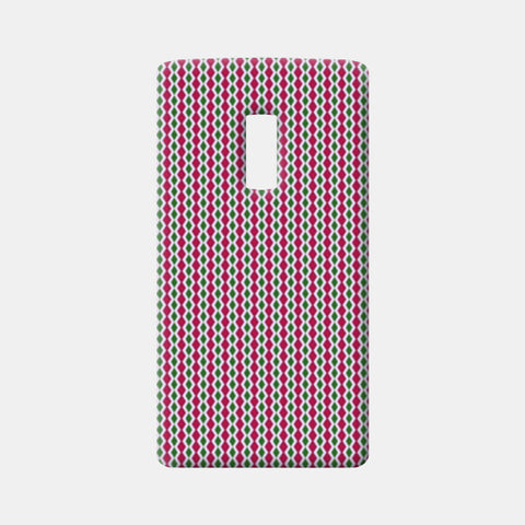 Retro Geometric Pink And Green Diamond Stripes Pattern One Plus Two Cases | Artist : Seema Hooda
