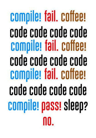 PosterGully Specials, Compile Fail Coffee - Coder, Programmer Wall Art | Artist : Manju Nk, - PosterGully