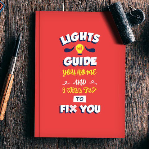 Coldplay Fix You Notebook | Artist : Arif Ahmad