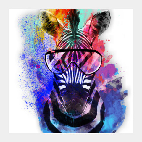 Zebra  Art  Square Art Prints PosterGully Specials